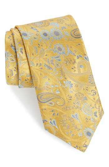 Canali Floral Silk X-Long Tie