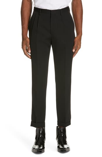 CALVIN KLEIN 205W39NYC Pleated Gabardine Wool Trousers