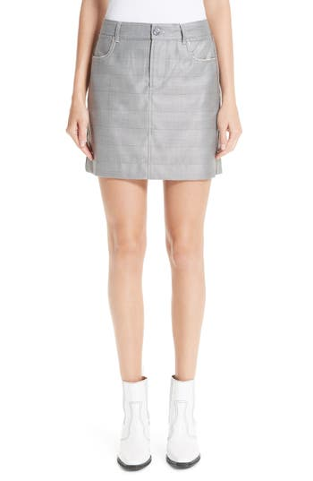 Ganni Silk & Wool Suiting Skirt