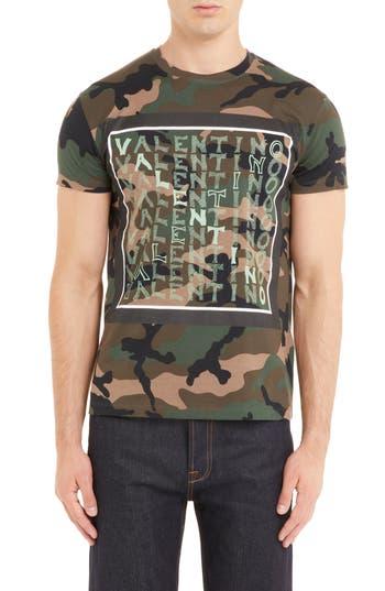 Valentino Camo Logo T-Shirt