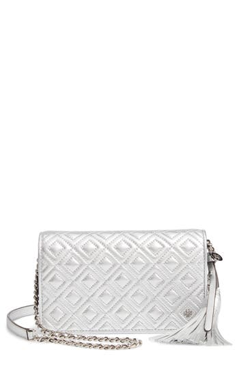 Tory Burch Fleming Quilted Metallic Leather Continental Wallet