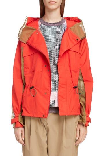 Toga Hooded Taffeta Jacket