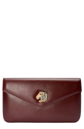 Gucci Linea Rajah Leather Clutch