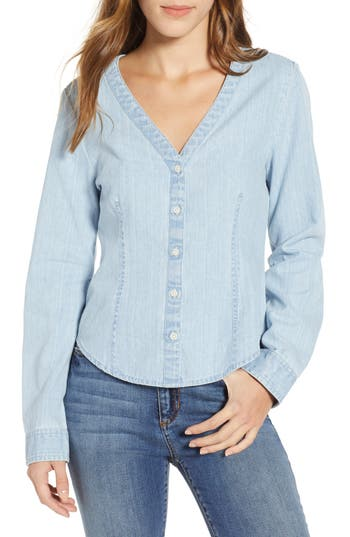 BP. V-Neck Chambray Shirt