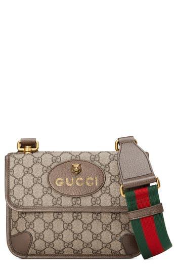 Gucci Small GG Supreme Canvas Messenger Bag