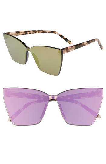 DIFF Goldie 65mm Oversize Cat Eye Sunglasses
