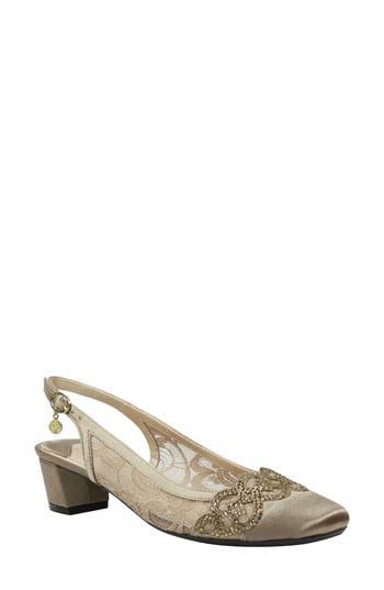 J. Reneé Faleece Crystal Embellished Slingback Pump