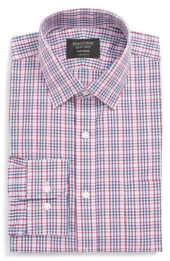 Nordstrom Men's Shop Traditional Fit Non-Iron Plaid Dress Shirt
