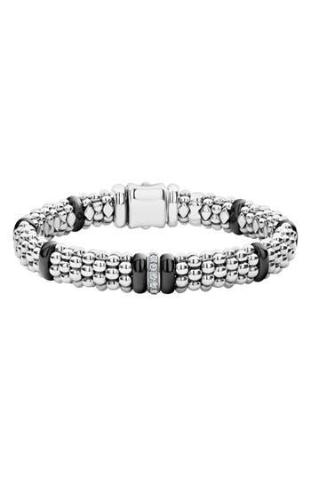 LAGOS Black Caviar Diamond One-Link Bracelet