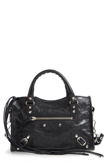 Balenciaga Mini Arena City Leather Satchel