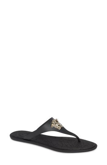Versace First Line Medusa Thong Sandal