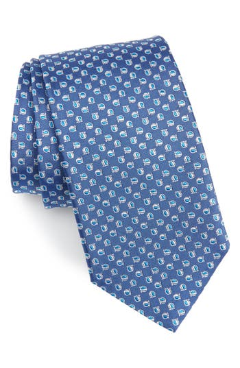 Salvatore Ferragamo Gavi Ja Print Silk Tie