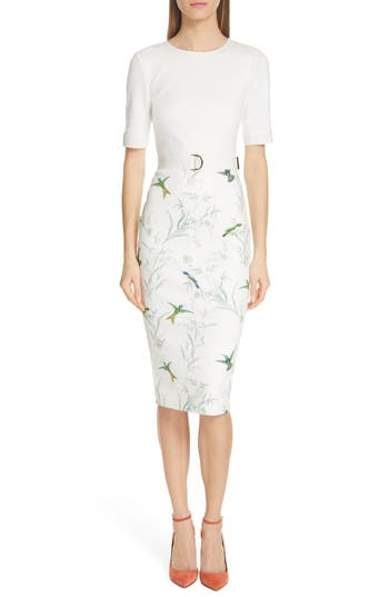 Ted Baker London Kinnya Fortune Belted Body-Con Dress