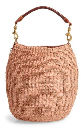 Clare V. Pot de Miel Top Handle Straw Basket Bag