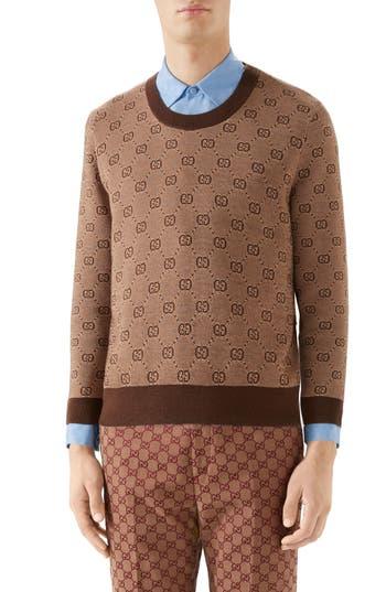 Gucci GG Jacquard Wool & Cotton Sweater