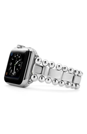 LAGOS Smart Caviar Sterling Silver Link Band for Apple Watch®