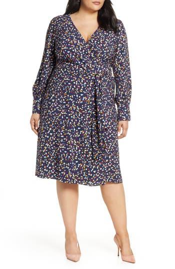 Halogen® Wrap Dress (Plus Size)