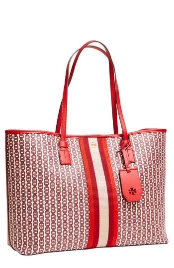 Tory Burch Gemini Link Coated Canvas Tote