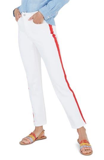 Madewell Tuxedo Stripe Stovepipe Jeans (Tile White) (Regular & Plus Size)