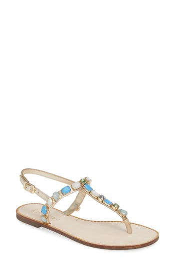 Lilly Pulitzer® Raysa Embellished T-Strap Sandal (Women)