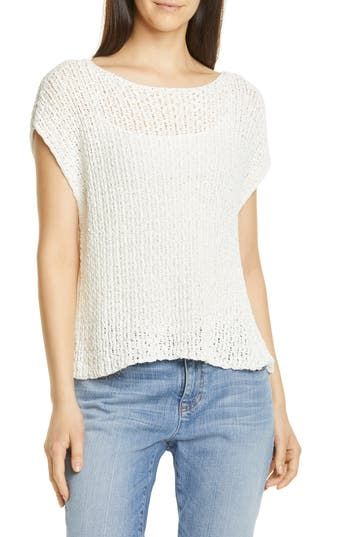 Eileen Fisher Open Knit Top