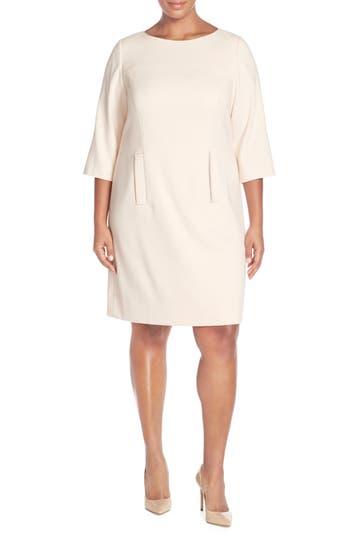 Plus Size Eliza J Pocket Detail Shift Dress, Pink