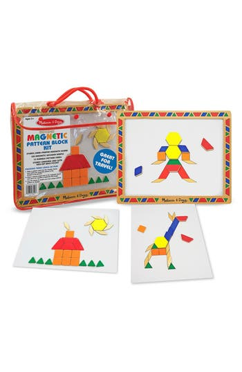 Toddler Melissa  Doug Magnetic Pattern Block Kit
