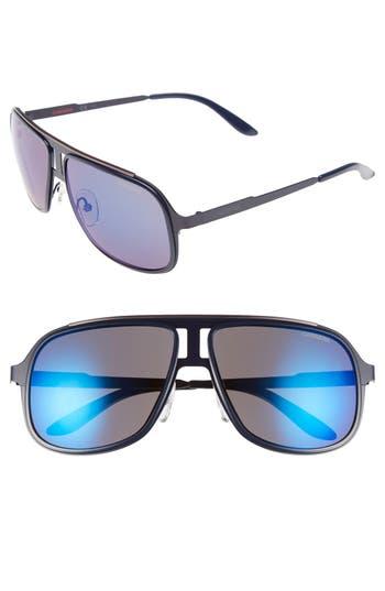 Carrera Eyewear 5m Aviator Sunglasses - Blue Ruthenium/ Sky Mirror
