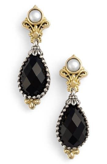 Women's Konstantino 'Nykta' Pearl & Black Onyx Drop Earrings
