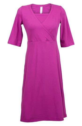 Nurture-Elle Crossover Maternity/nursing Dress, Pink
