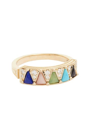 Women's Mociun 'Mega' Five Triangle Ring
