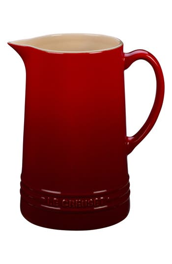 Le Creuset Glazed Stoneware 1 2/3 Quart Pitcher, Size One Size - Red