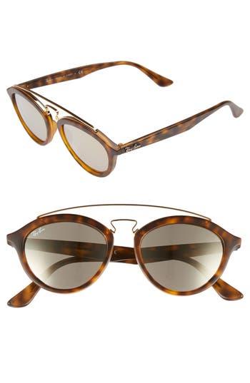 Ray-Ban Highstreet 50Mm Brow Bar Sunglasses - Brown/ Havana