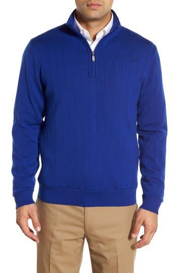 Bobby Jones Windproof Merino Wool Quarter Zip Sweater, Blue