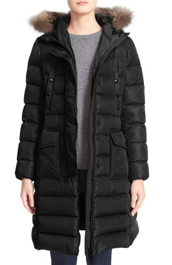 Women's Moncler 'Khloe' Water Resistant Nylon Down Puffer Parka With Removable Genuine Fox Fur Trim at NORDSTROM.com