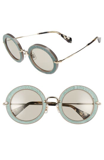 Miu Miu 4m Round Sunglasses - Ivory