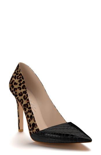 Shoes Of Prey Genuine Calf Hair Pointy Toe Pump