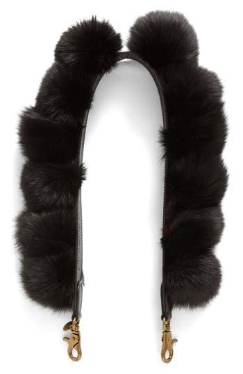 ZAC Zac Posen Genuine Fox Fur Bag Strap