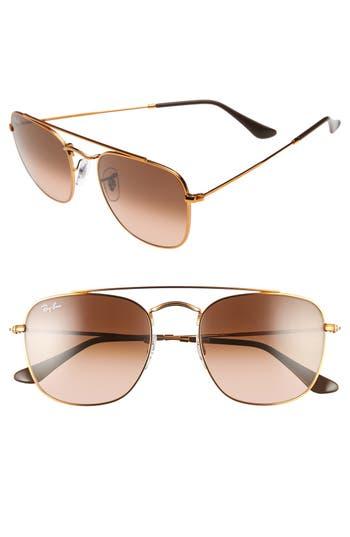 Ray-Ban Icons 5m Aviator Sunglasses - Pink/ Brown