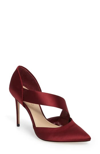 Imagine By Vince Camuto Oya Asymmetrical Pointy Toe Pump- Red
