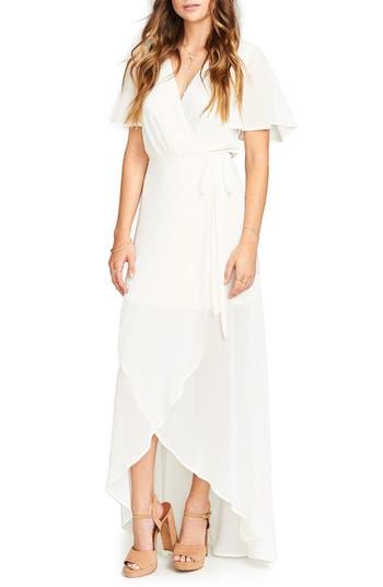 Women's Show Me Your Mumu Sophia Wrap Dress, Size Medium - White