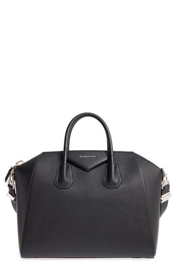 Givenchy 'Medium Antigona' Sugar Leather Satchel - Black at NORDSTROM.com