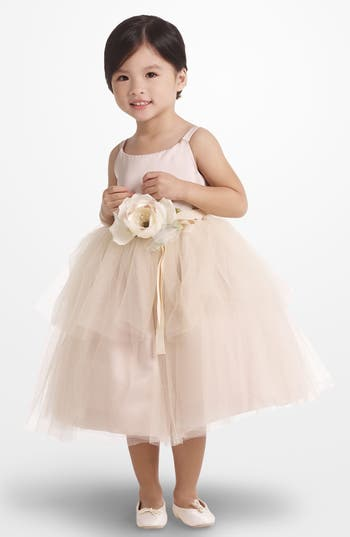 Girls Us Angels Tulle Ballerina Dress Size 7  Beige