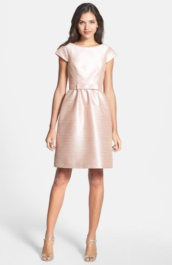 Alfred Sung Woven Fit & Flare Dress, Pink