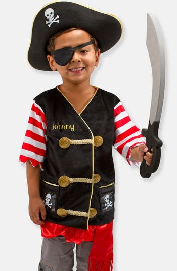 Toddler Melissa  Doug Personalized Pirate Costume