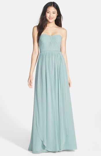 Women's Jenny Yoo 'Aidan' Convertible Strapless Chiffon Gown