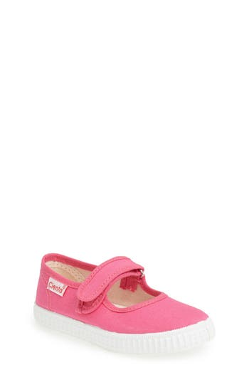 Infant Girl's Cienta Canvas Mary Jane, Size 18 EU - Pink