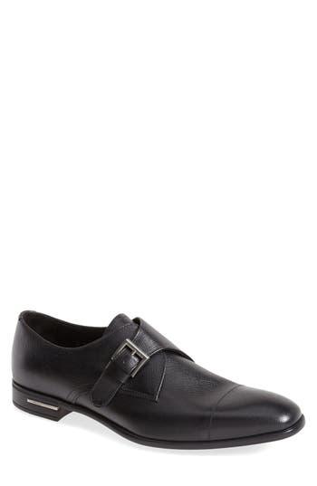 Prada Saffiano Monk Strap Shoe
