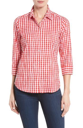 Foxcroft Crinkled Gingham Shirt