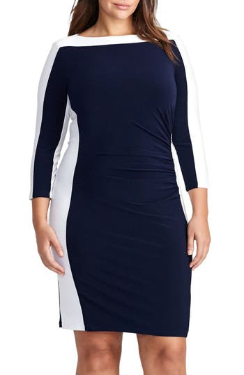 Plus Size Women's Lauren Ralph Lauren Jersey Sheath Dress